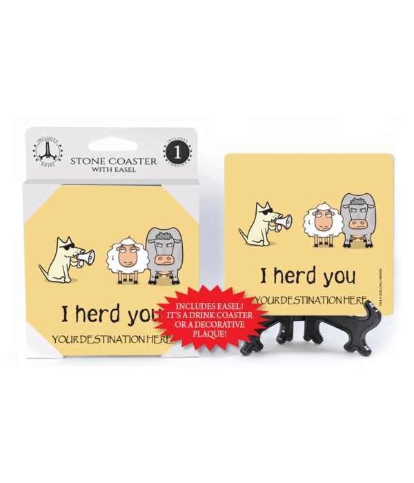 I herd you - sheep and cow
