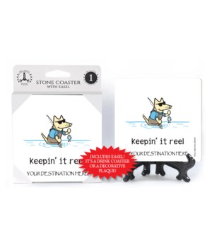 Keepin' it reel - fishing dog