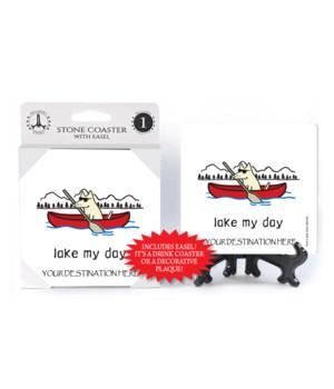 Lake my day - Dog canoe