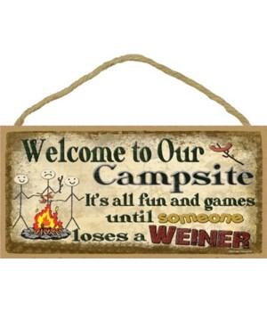 campsite-fun till someones loses weiner