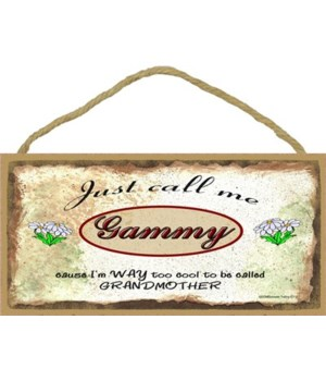"""Just Call Me Gammy - Daisies 5"""" x 10"""" wo"""