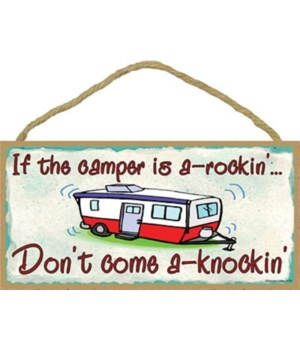 "Pull campers a rockin  5"" x 10"" wood pla"