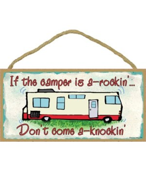 "RV Campers a rockin 5"" x 10"" wood plaque"