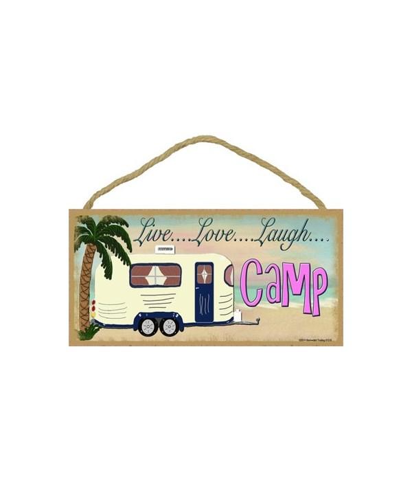 """Live Love laugh Camp - beach 5"""" x 10"""" wo"""