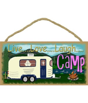 "live Love laugh Camp - mountain 5"" x 10"""