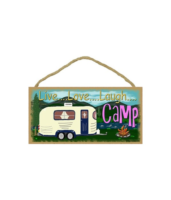 "live Love laugh Camp - mountain 5"" x 10"""