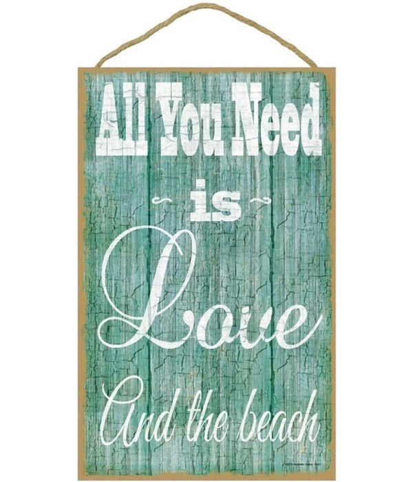"""All you need is love and the beach 10"""" x"""
