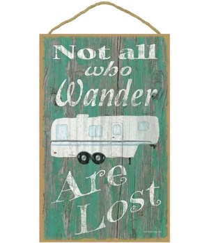 Not all who wander - fifth wheel (green