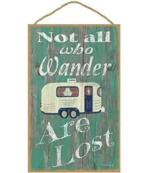 Not all who wander - camper (green bkgd)