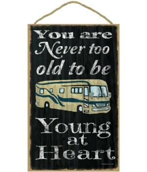 You are never too old to be young - moto