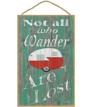 not all who wander - teardrop (green bkg