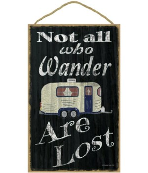 Not all who wander - camper (black bkgd)