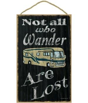 Not all who wander - motorhome (black bk