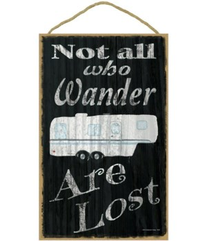 Not all who wander - fifth wheel (black