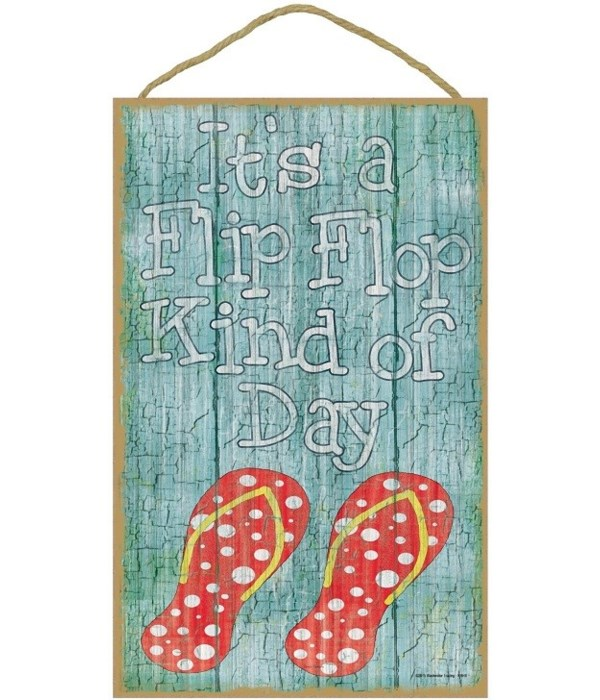 "It's a flip flop kind of day 10"" x 16"" w"