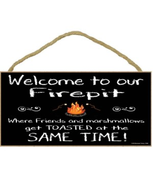 Welcome to our firepit friends and marsh