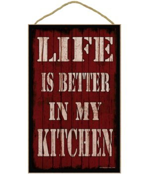 110 x 16 Life is better in my kitchen - r
