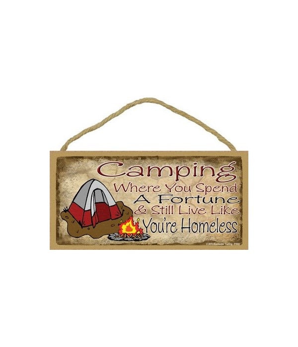 Camping where you spend a fortune & stil