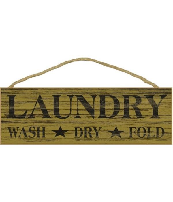 Laundry wash dry fold with tars - mustar