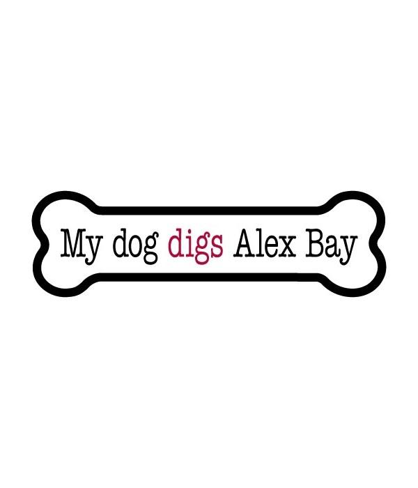 My dog digs ALEX BAY bone magnet