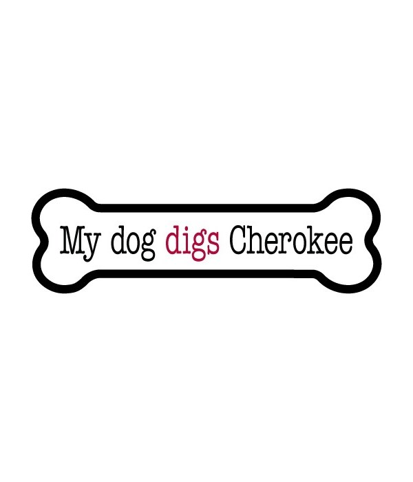 Cherokee bone magnet