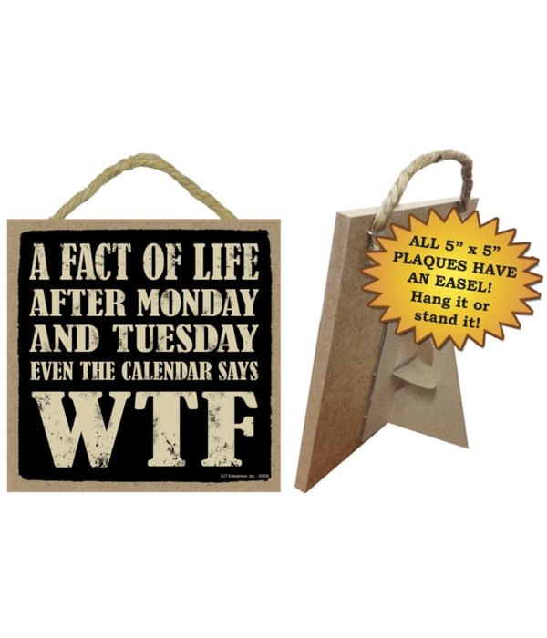 A Fact Of Life 5x5 plaque