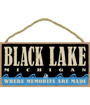 Black Lake MI Primitive Memories plaque