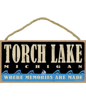 Torch Lake Water Waves 5x10 sign
