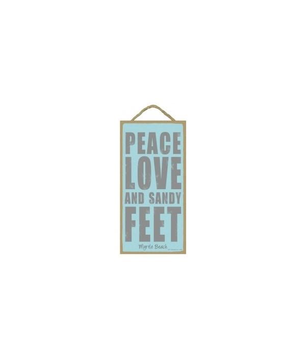 Peace Love and Sandy Feet (imprint optio