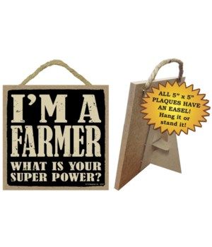 Farmer 5x5 Plaque