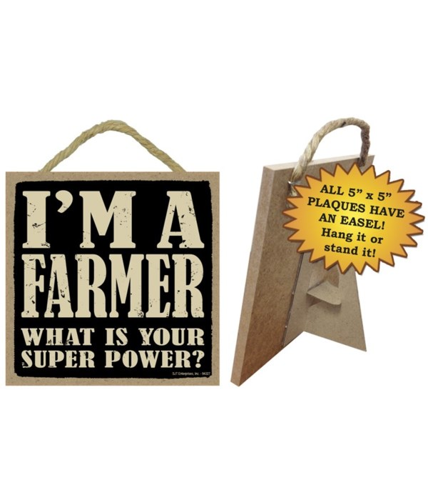 Farmer 5x5 Plaque