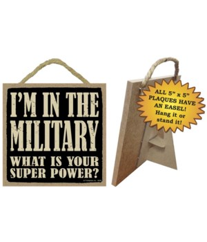 Military 5x5 Plaque