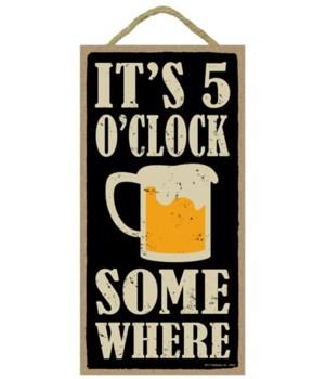 It's 5 o'clock somewhere (beer mug image