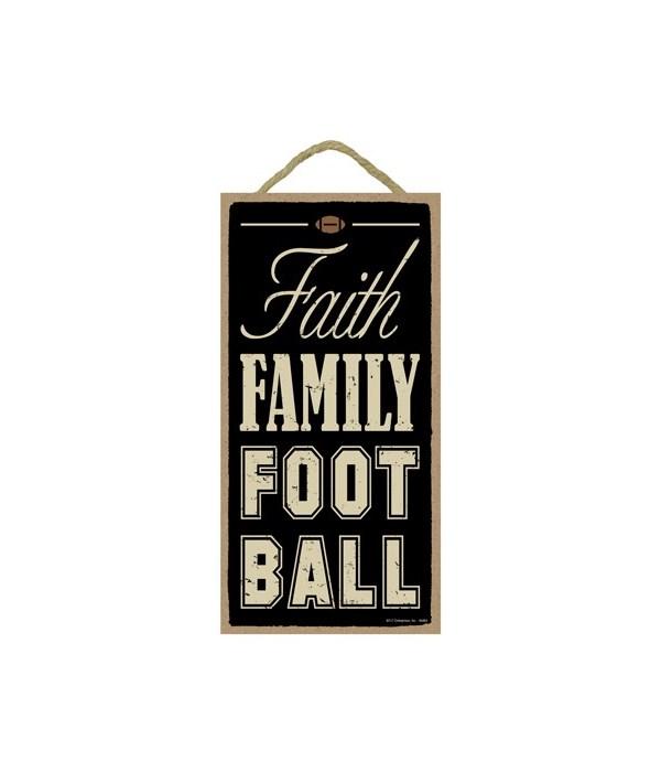 Faith Family Football 5x10