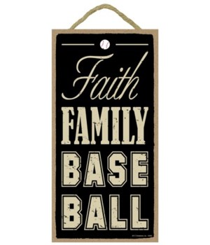 Faith Family Baseball 5x10