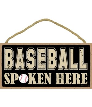 Baseball spoken here 5x10