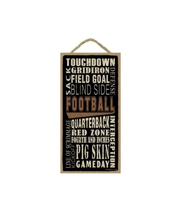 Football (word art) 5x10