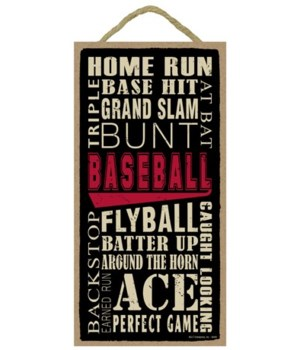 Baseball (word art) 5x10