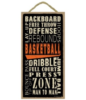 Basketball (word art) 5x10