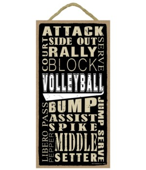 Volleyball (word art) 5x10