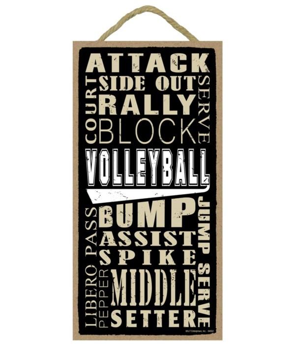 Volleyball (word art) 5x10