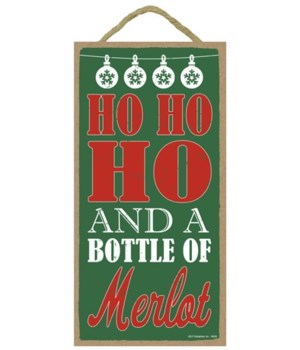 Ho Ho Ho and a bottle of merlot 5x10