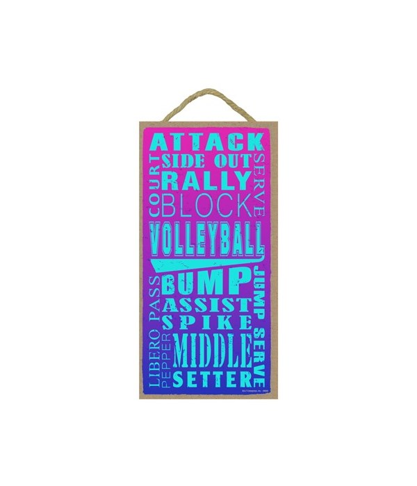 Volleyball (word art) - Pink to Purple b