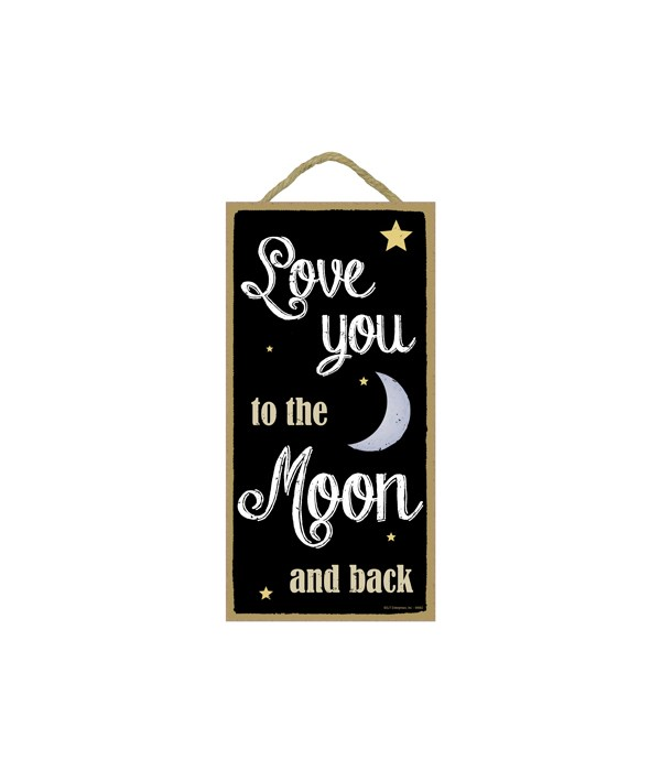 Love you to the moon and back (stars and moon graphics)