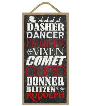 Dasher, Dancer, Prancer, Vixen, Comet, C
