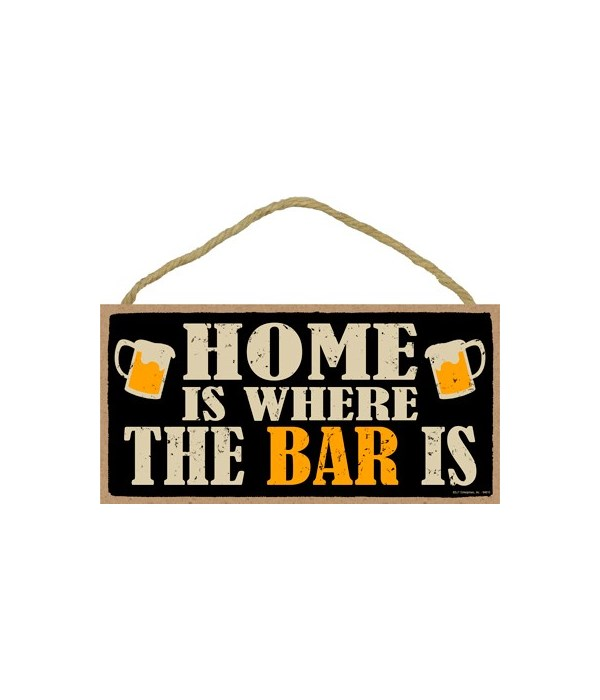 Home is where the bar is