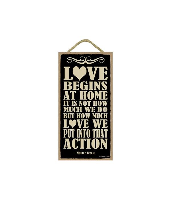 Mother Teresa - Love begins at home