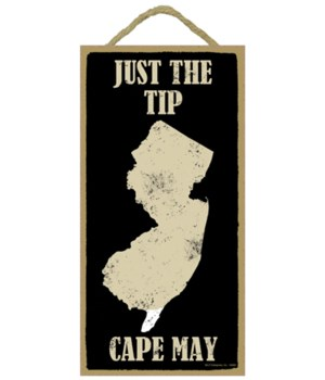 Just the tip - Cape May - outline of New