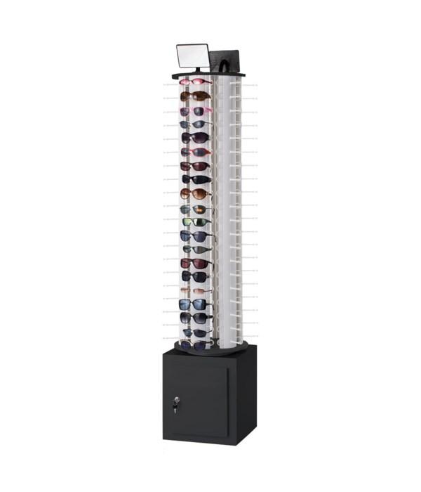 Eyewear Floor Display Spinner with Locking Storage - Holds 120 Pair Sunglasses