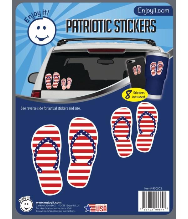 Flip Flops U.S.A. Flag Stickers